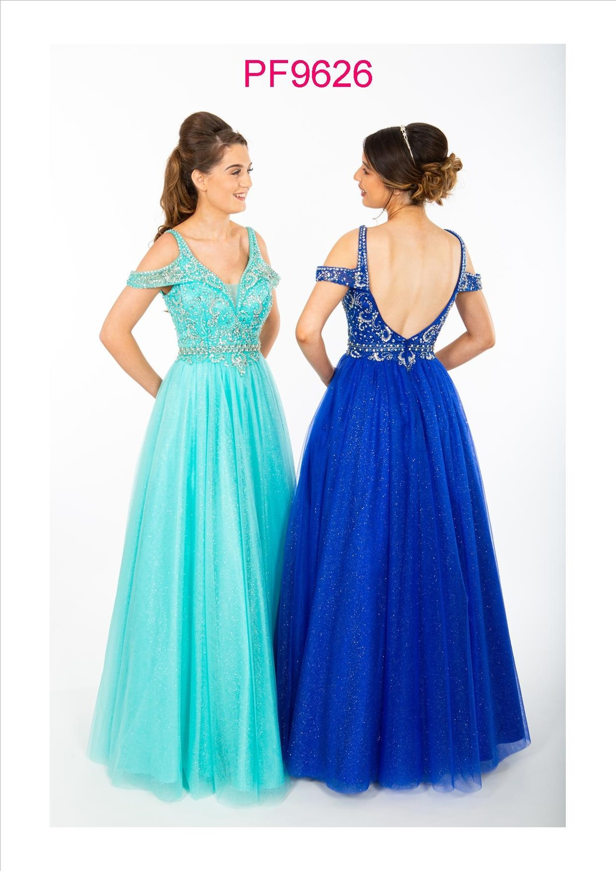 PF9626 Aqua and Royal Blue